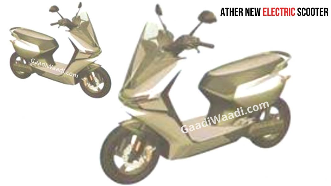 ather new Electric scooter