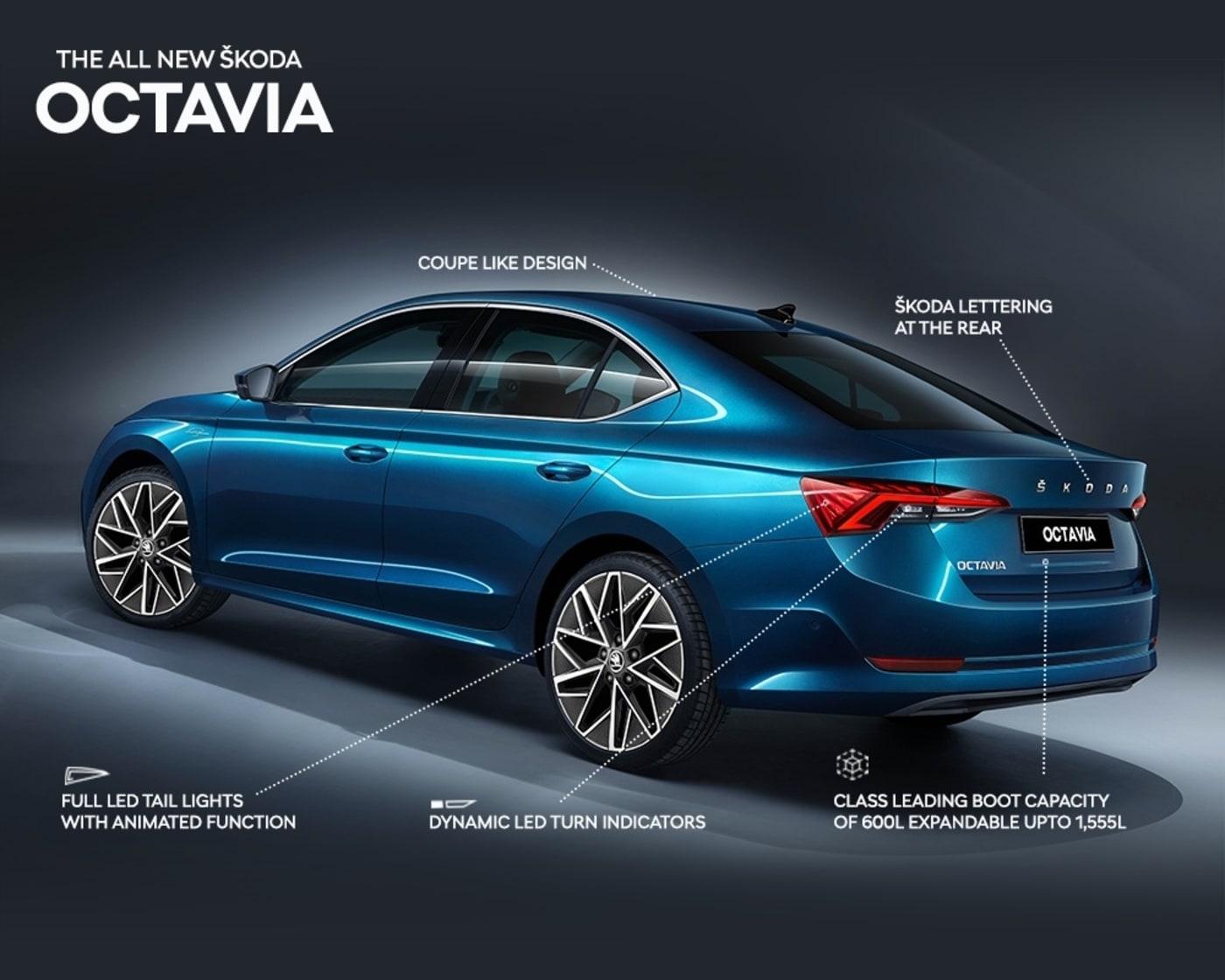 2021 Skoda Octavia exterior details revealed rear