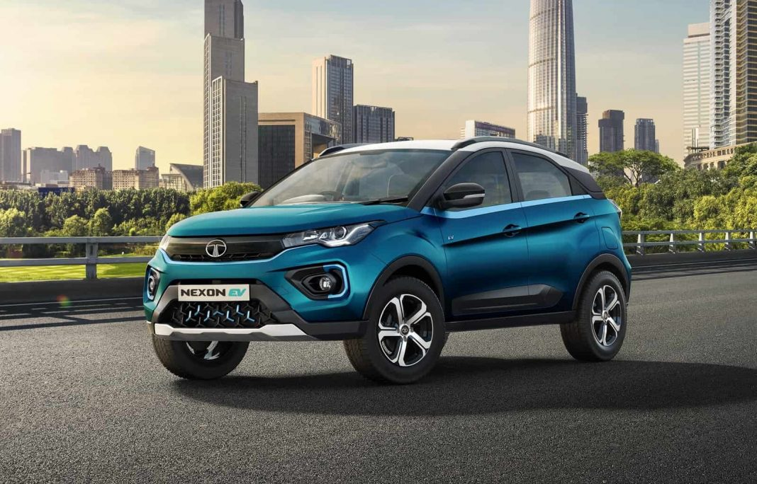 2021 Tata Nexon EV exterior front angle