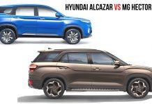Alcazar vs MG hector plus2