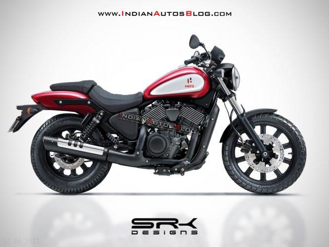 Hero Harley Davidson cruiser rendering 2