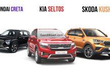 Skoda Kushaq Vs Hyundai Creta Vs Kia Seltos