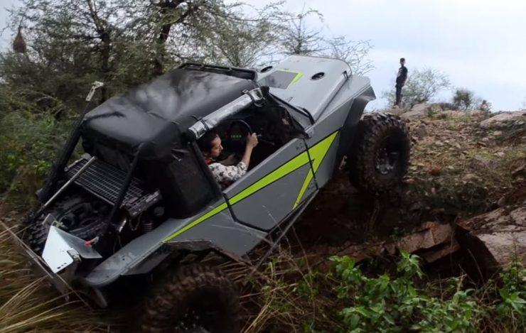 custom Mahindra Thar V8 off-road