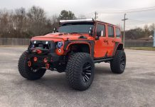 modified Jeep Wrangler side front angle