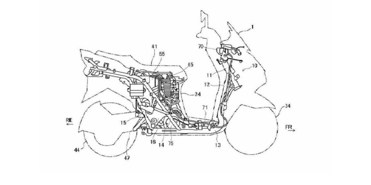 suzuki burgman electric patent scooter