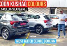 Skoda Kushaq colours showcased