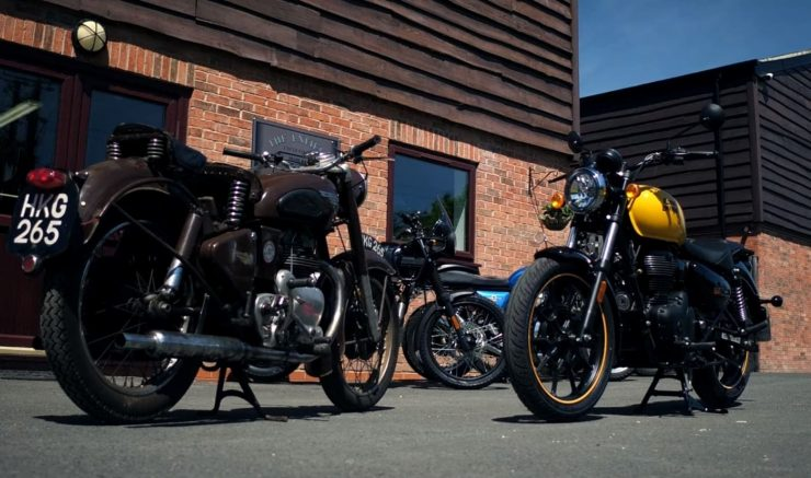 1953 RE Meteor 700 and 2021 RE Meteor 350