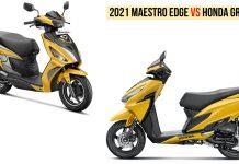 2021 Hero Maestro Edge 125 VS Honda Grazia 125