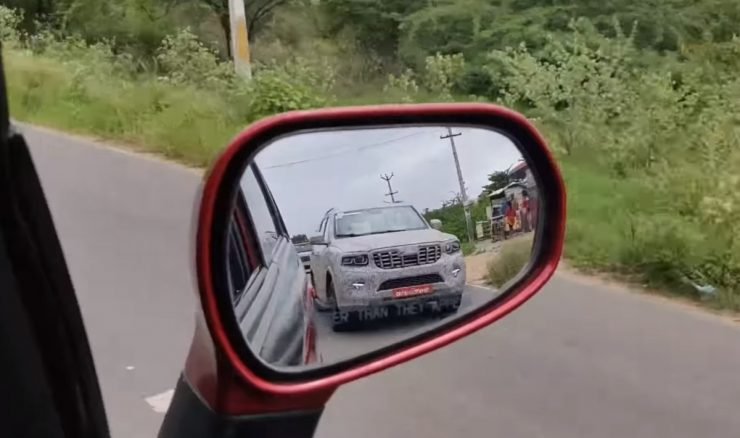 2022 Mahindra Scorpio spied again front end