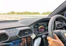 Lamborghini Urus Top Speed Dashboard