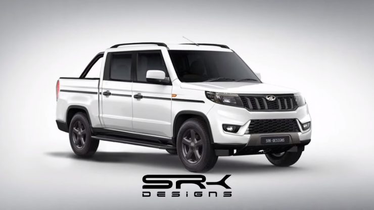 Mahindra Bolero Neo pickup truck rendering