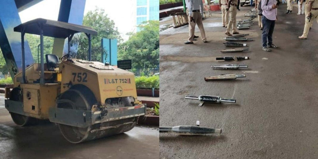 Modified Silencers Police Destroyed Road Roller Thane 1