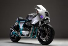 Royal Enfield Continental GT650 modified Rogue Motorcycles front angle