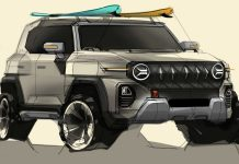 SsangYong X200 sketch front angle