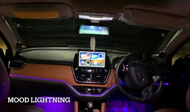 Tata Harrier Dark Edition modifed interior