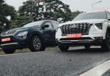 Tata Safari vs Hyundai Alcazar drag race