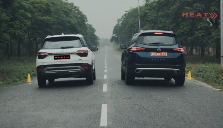 Tata Safari vs Hyundai Alcazar drag race img2