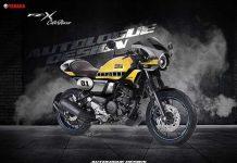 Yamaha FZ-X Custom Cafe Racer Autologue Design Front 3 Quarters