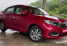 2021 Honda Amaze facelift exterior