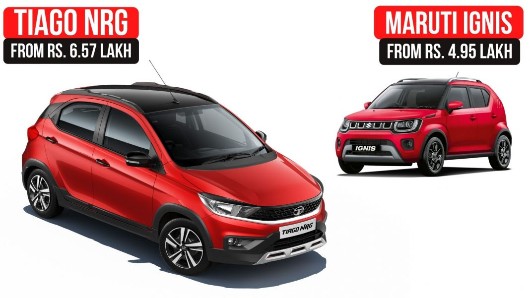 2021 Tata Tiago NRG Vs Maruti Suzuki Ignis