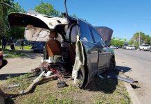 Audi Q7 accident brutal img2