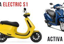 Ola Electric S1 Vs Honda Activa 6G