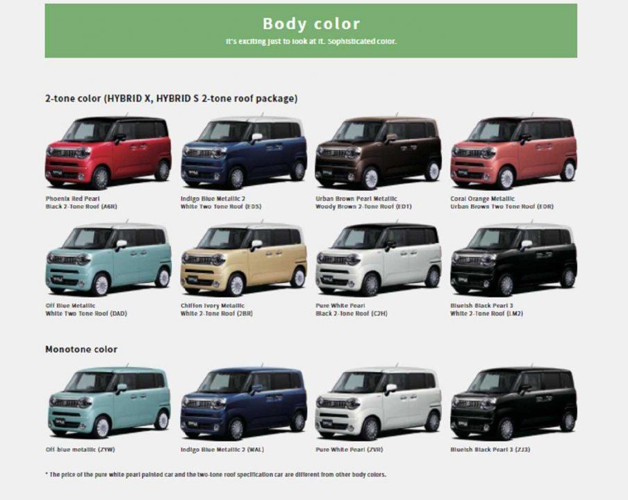 Suzuki WagonR Smile Colour Options