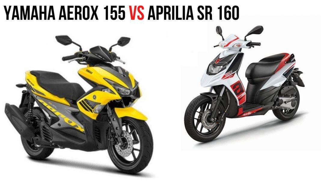 Yamaha Aerox 155 Vs Aprilia SR 160