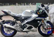Yamaha R15M Side View