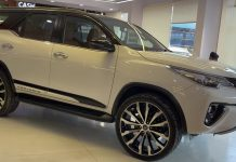 modified Toyota Fortuner exterior 24 inch wheels