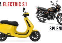 ola electric vs super splendor