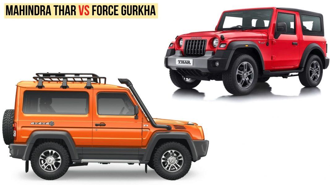 Mahindra Thar Vs Force Gurkha Xtreme