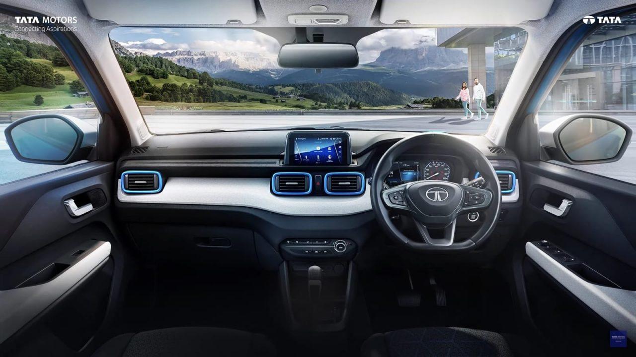 Tata Punch interior teaser