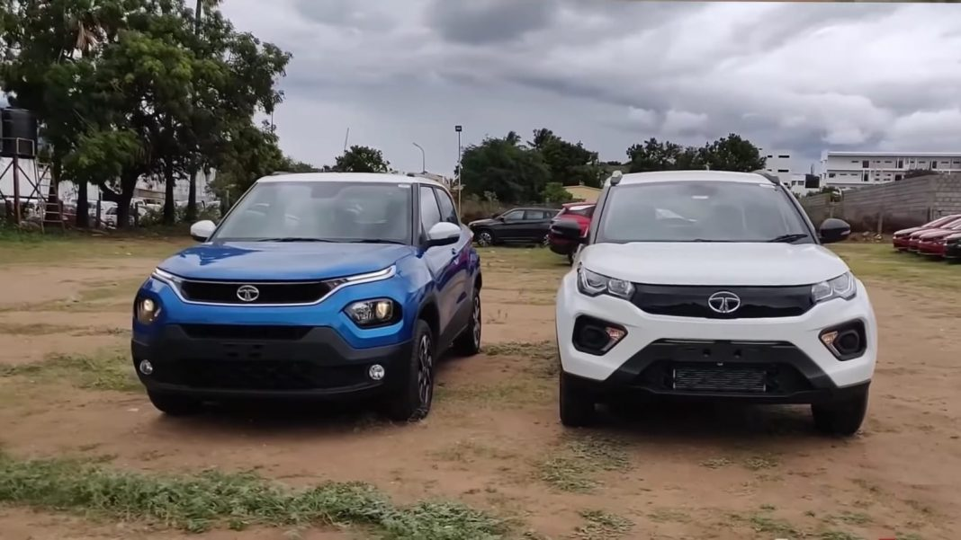 Tata Punch vs Nexon front angle