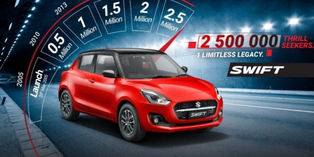 maruti suzuki swift 25 lakh sales 1
