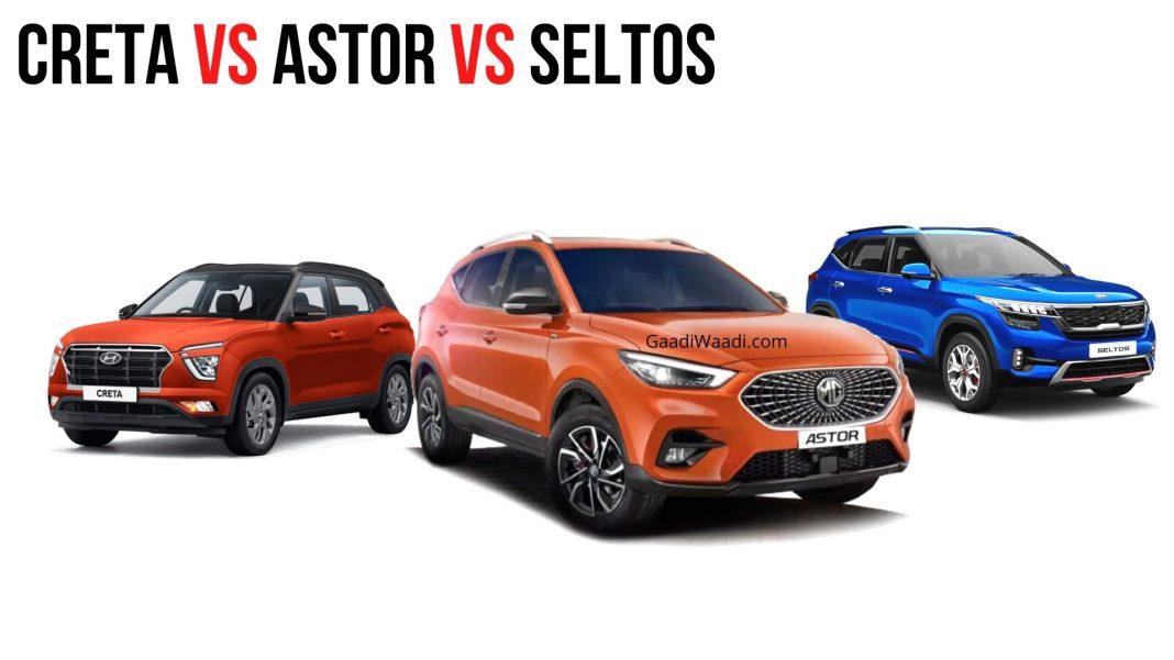 Creta Vs Astor vs Seltos