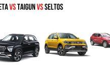 Creta vs Taigun vs Seltos