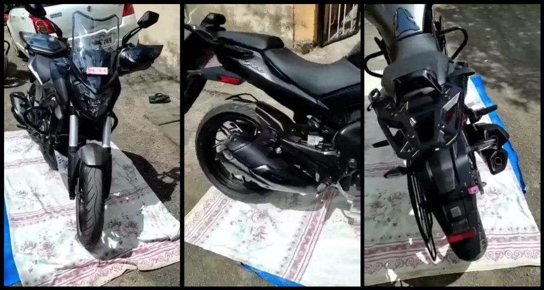 Updated New Bajaj Dominar 400 spied at dealership